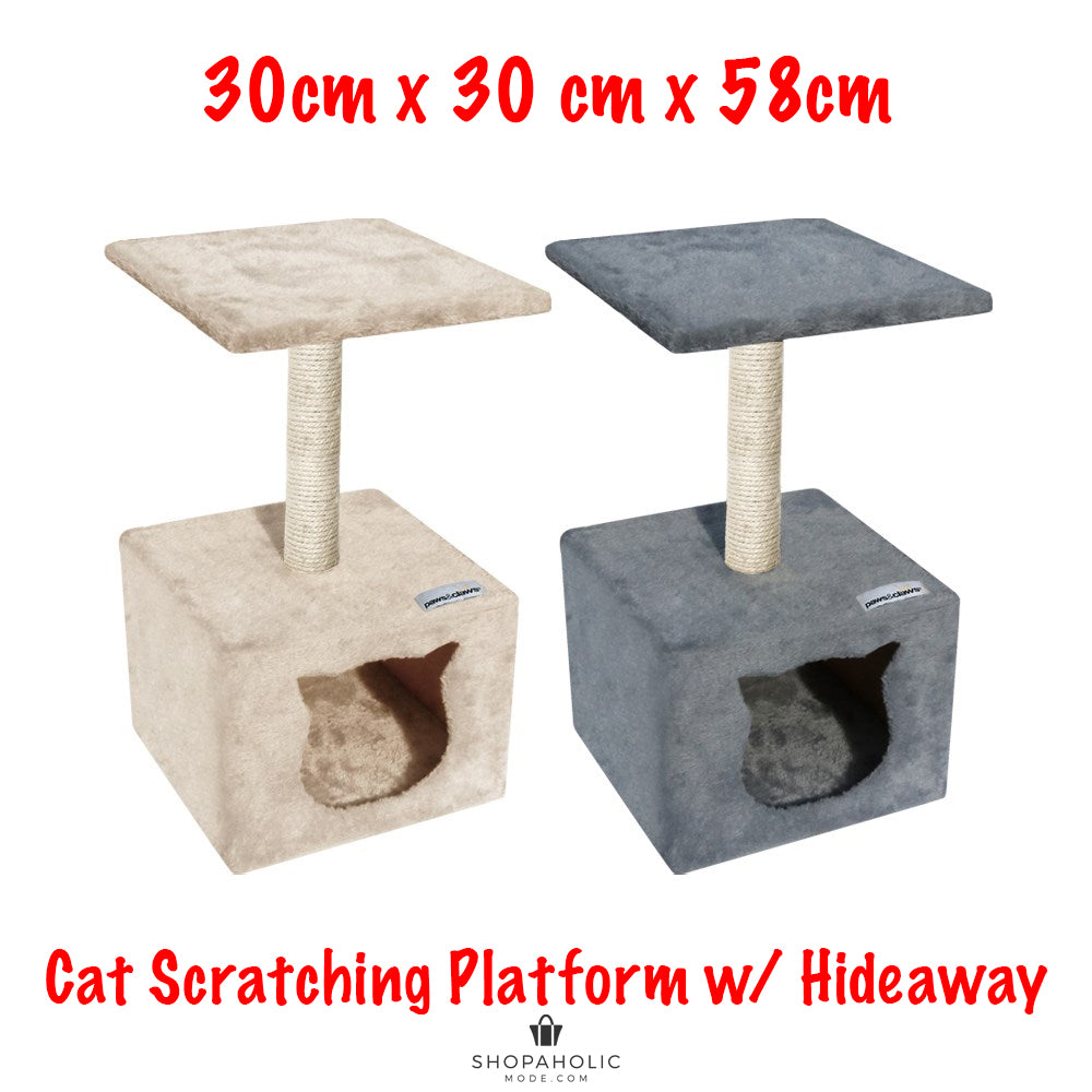 58cm Cat Tree Scratching Sisal Pole Post Scratcher Toy Play Hideaway House