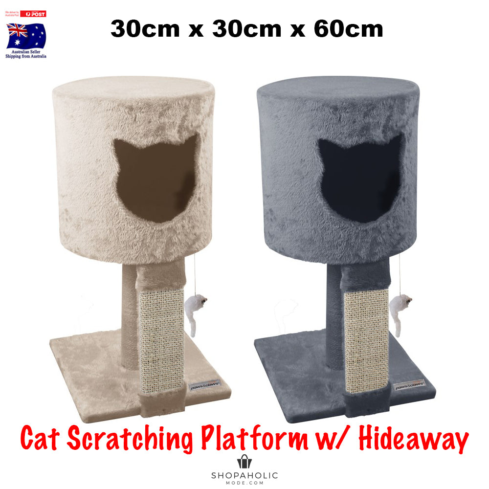 Cat Scratching Tower Sleeper Toy Hideaway Tree House Post Sisal Pole Scratcher