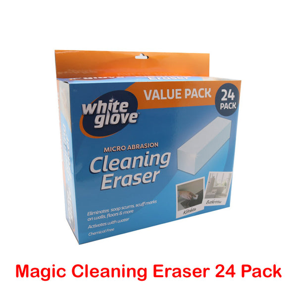 24PK White Glove Cleaning Eraser Magic Sponges Cleaner Marks/Stain Remover