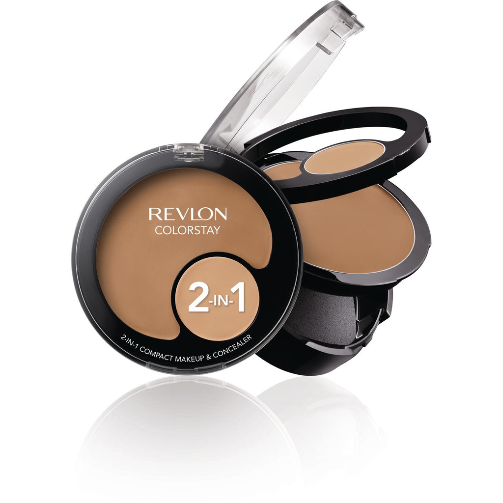2 x Revlon ColorStay 2 In 1 Compact Makeup and Concealer