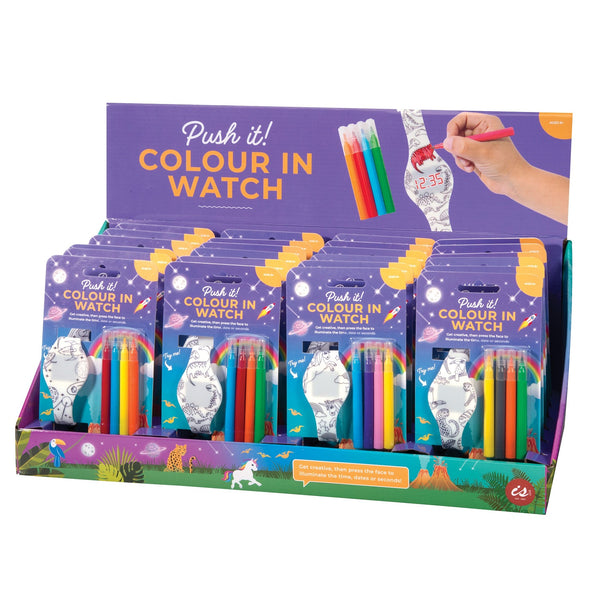 IS GIFT Push It! Colour In LED Watch