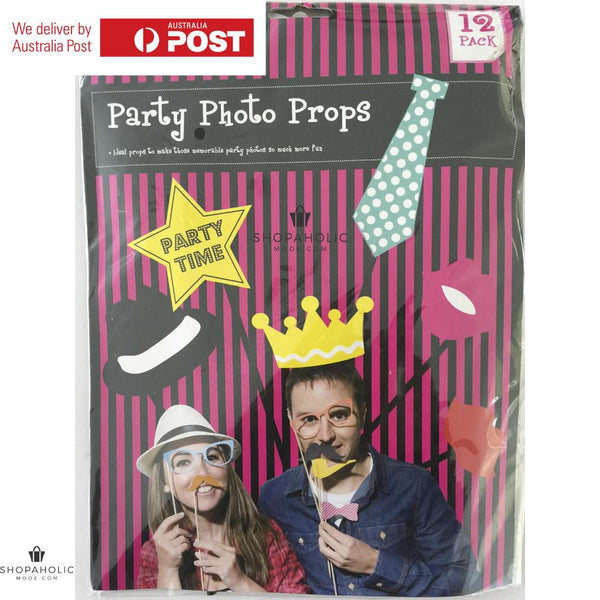12 Piece Photo Booth Props Set