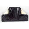 Faux Snake Skin Clutch with Folded Corners