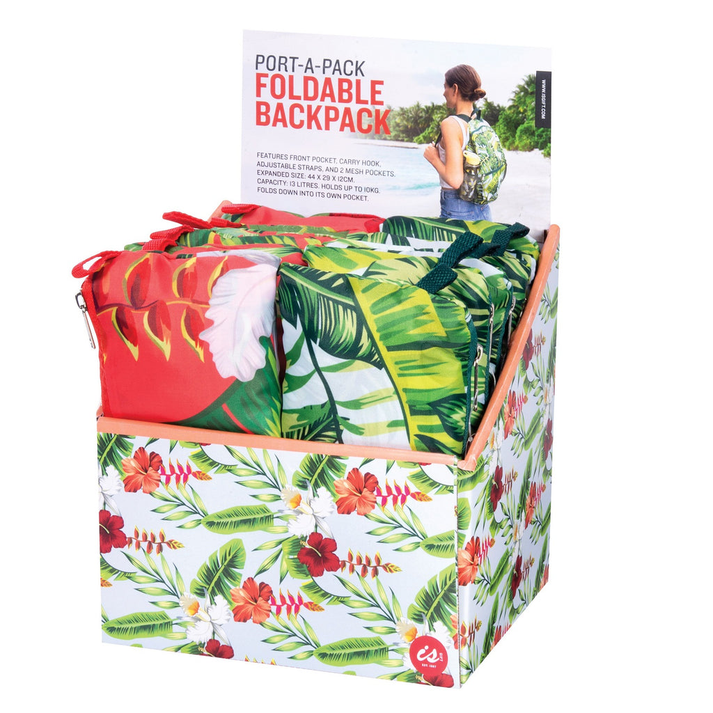 IS GIFT Port-A-Pack Foldable Backpack - Tropical