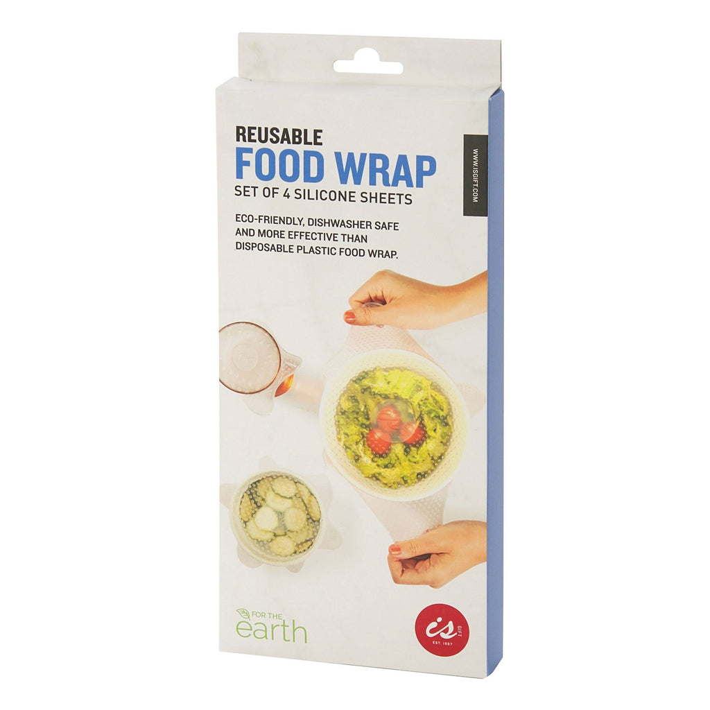 IS GIFT Reusable Silicone Eco Food Wrap (Set of 4)