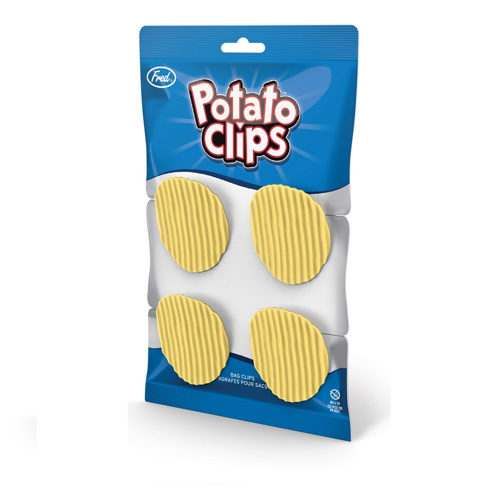 Pack of 4 Fred Potato Clips – Potato Chip Shaped Food Bag Clips