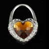 Rhinestone Heart Hand Bag Hook Purse Hanger - 2 Colours