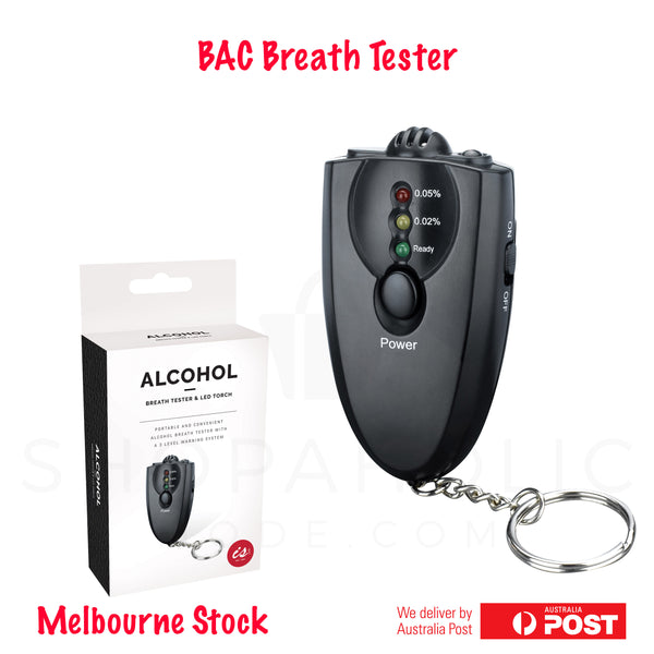 Alcohol Breath Tester Breathalyser Keychain with LED Torch