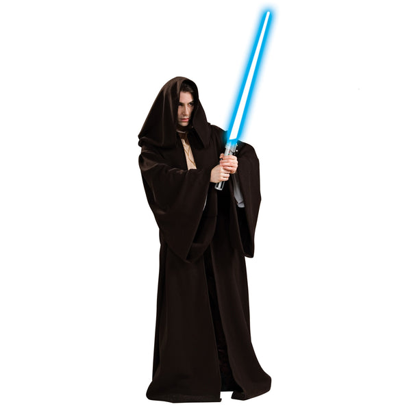 Adult Black Velvet Robe Costume for Star Wars Jedi or Wizard