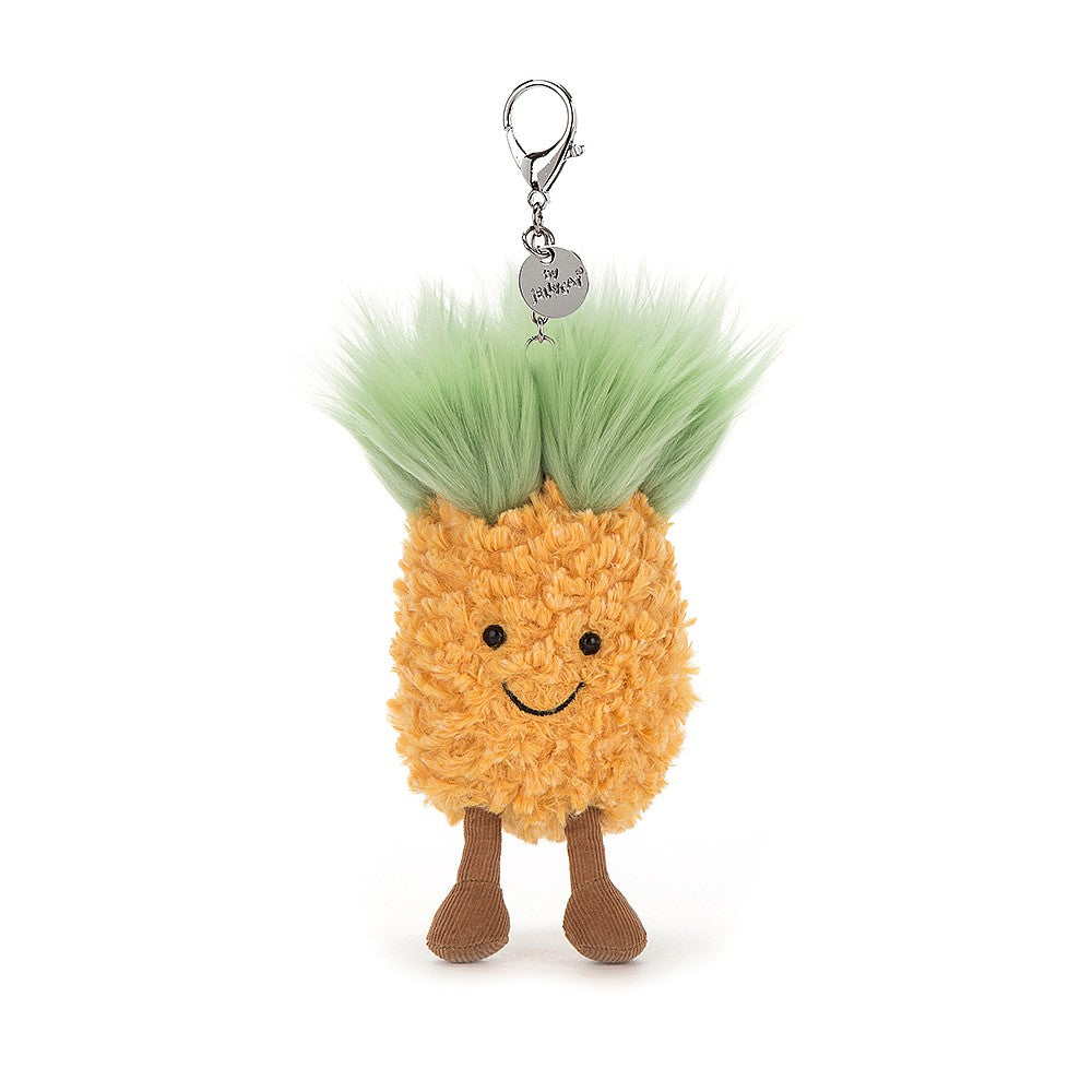 Jellycat Amuseable Pineapple - Plush Bag Charm - 10cm