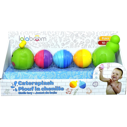 Lalaboom 8 Pcs Bloom Beads Caterpillar Bath Toy