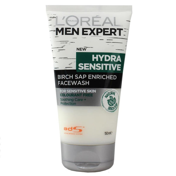 2 x L'Oreal Men Expert Hydra Sensitive Wash 100mL