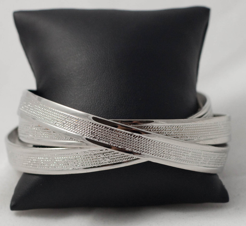 Triple Twist Metallic Bangle