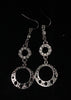 Circle on Circle Diamonte Drop Earrings