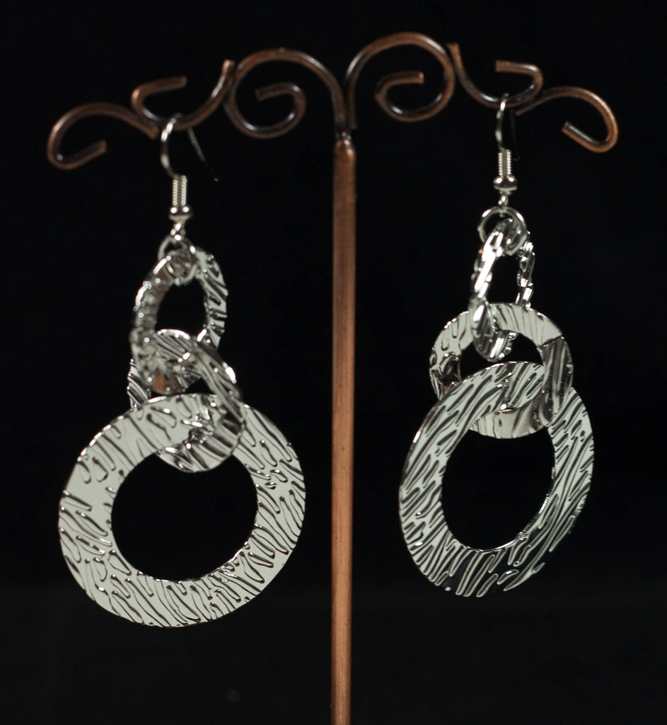 Triple Loop Drop Earrings