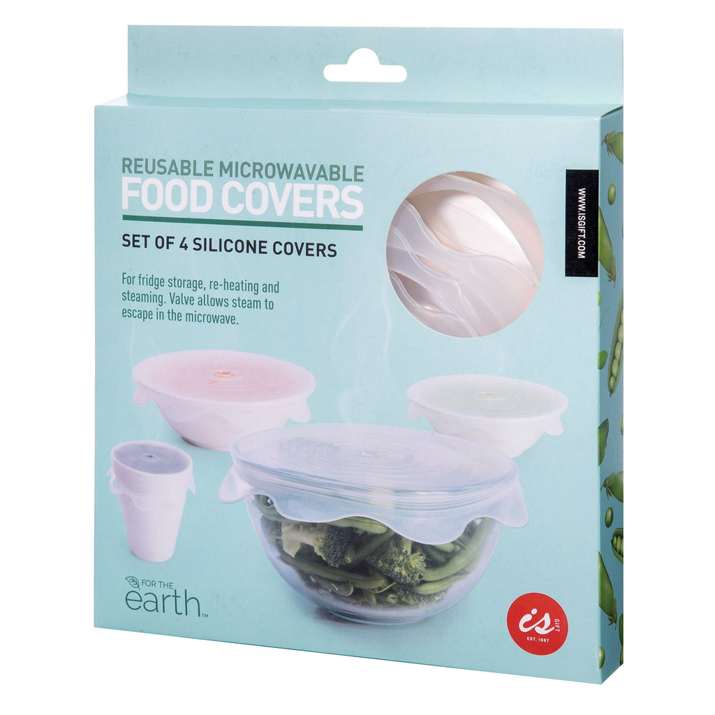 IS GIFT Silicone Reusable Microwavable Food Covers (Set of 4)
