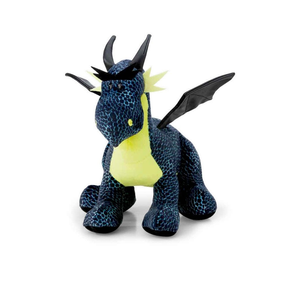 NICI Ice Dragon Black/Blue Standing Plush Toy 22cm Tall 33cm Long