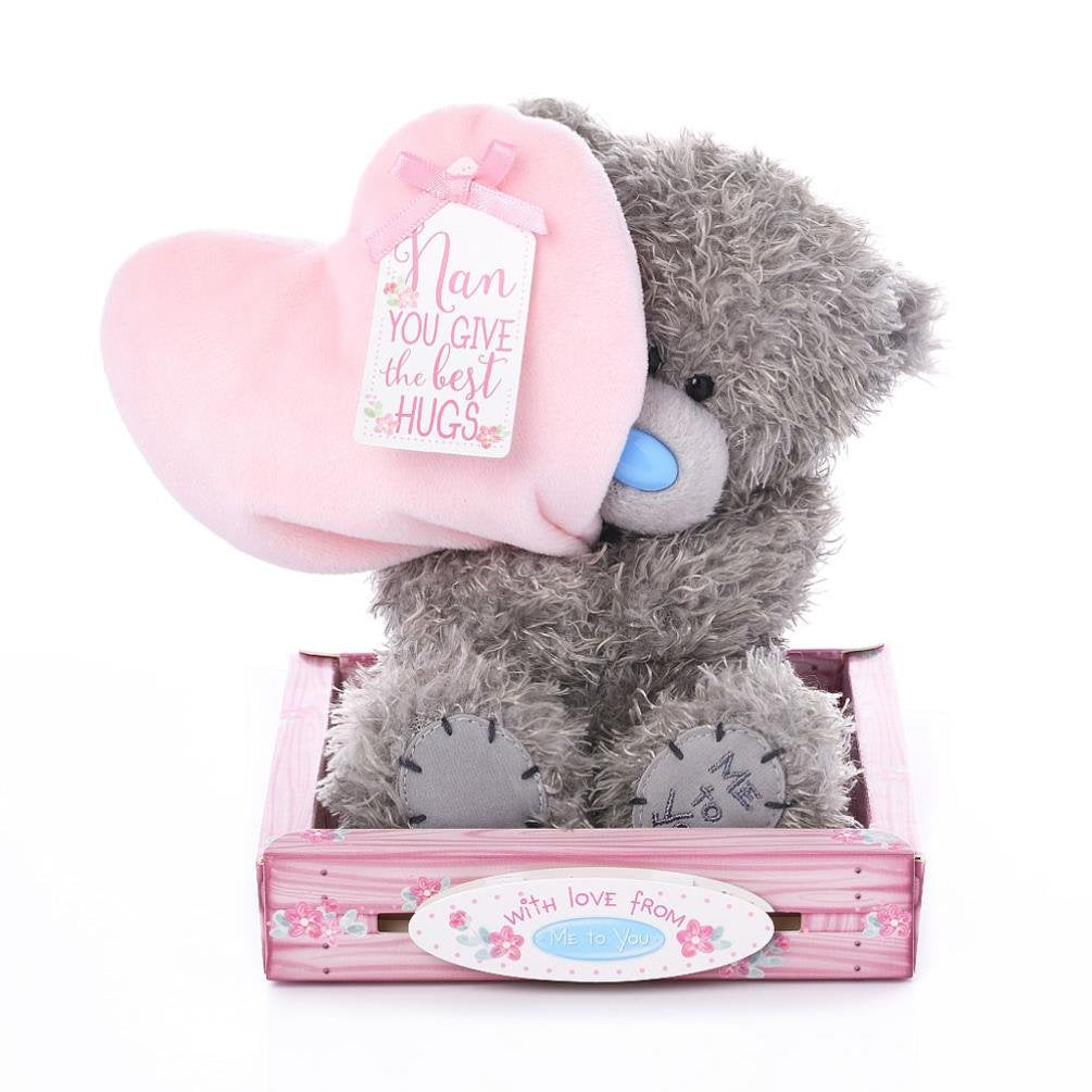 Me to You Tatty Teddy Bear Nan Heart Plush 15cm - Nan You Give the Best Hugs