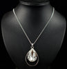 Teardrop Diamonte Long Necklace