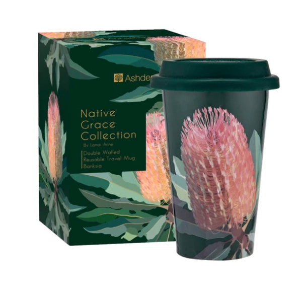 Ashdene Native Grace Banksia 310mL Travel Mug