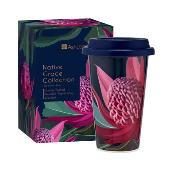 Ashdene Native Grace Waratah 310mL Travel Mug