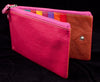 Genuine Leather Purse with Double Zipped Compartments