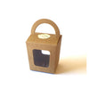 8 x Brown Kraft Window Candy Sweets Gift Box with Handle