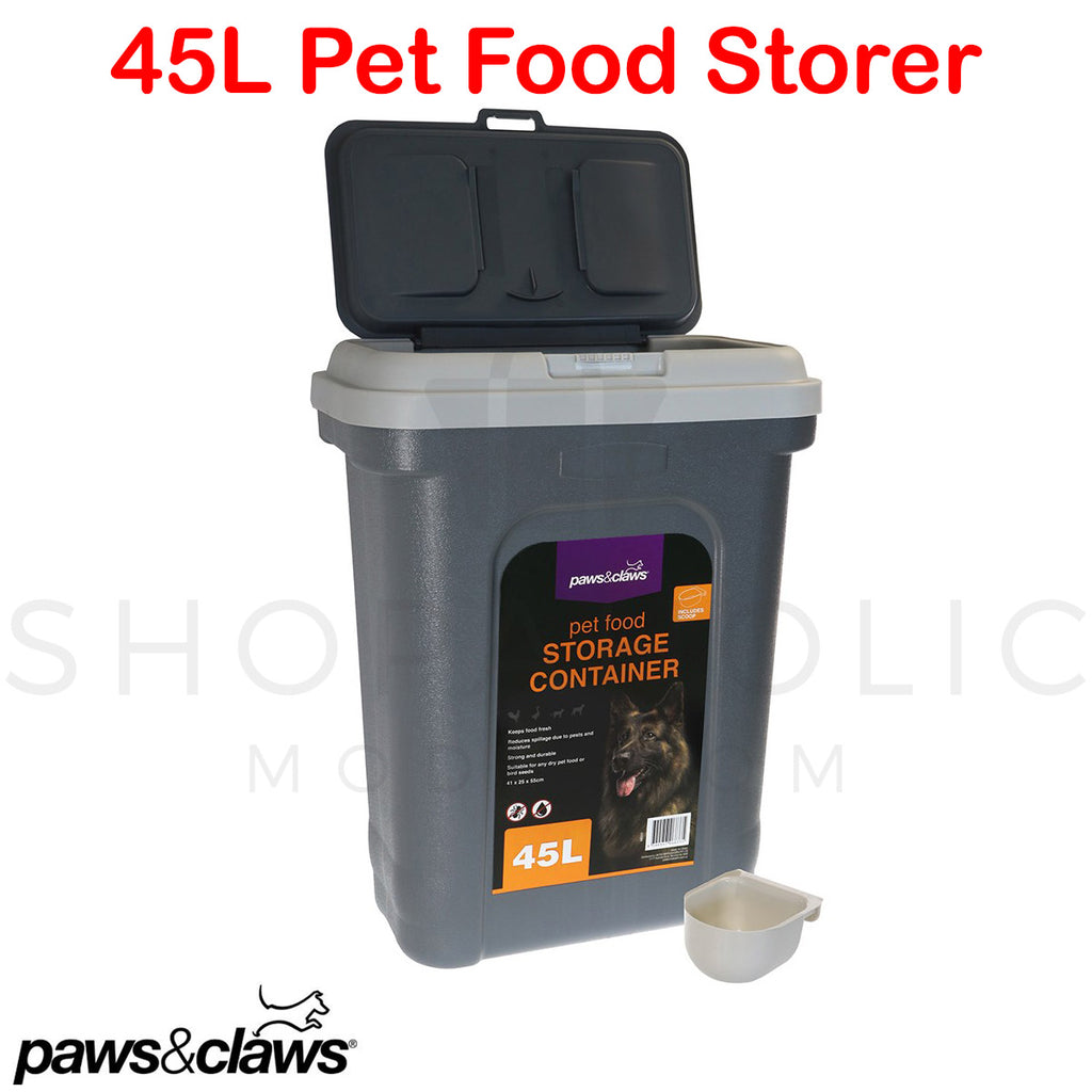 45L XL Pet Food Storage Container w/ Scoop Dispenser