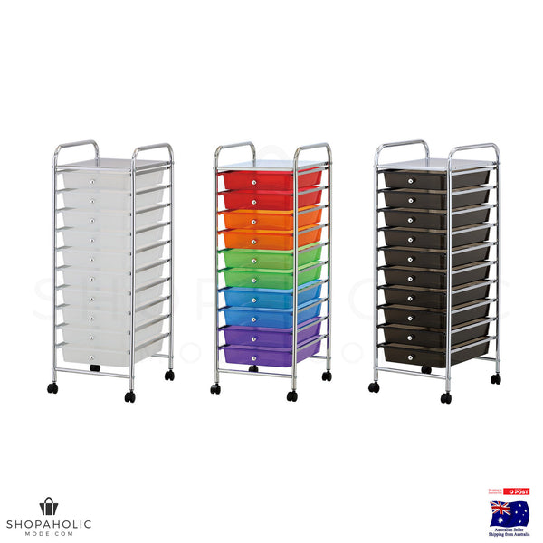 10 Drawers Storage Trolley