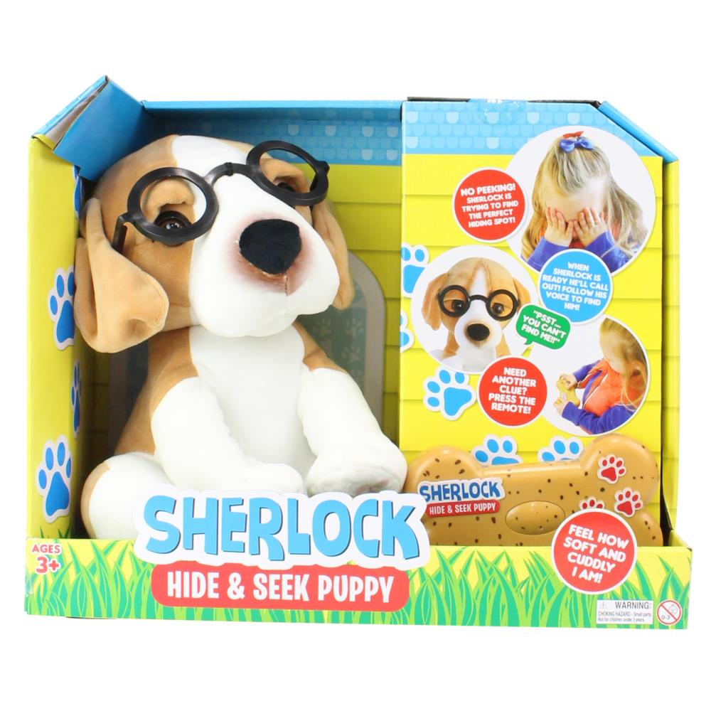 Sherlock the Hide & Seek Puppy Interactive Plush