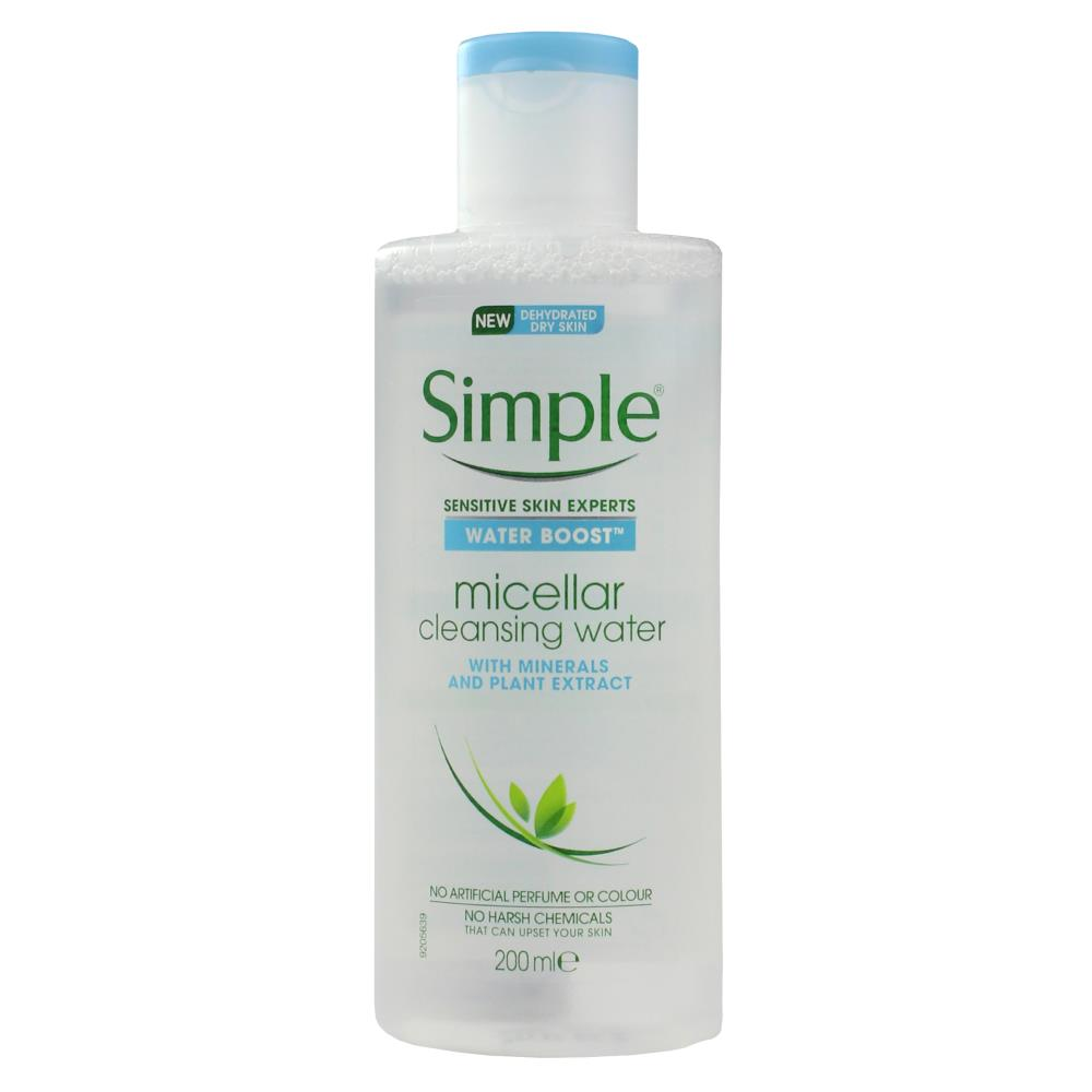 3 x Simple Water Boost Micellar Cleansing Water 200mL
