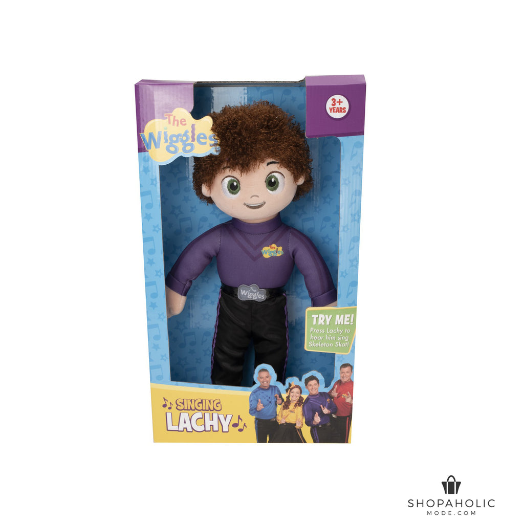 The Wiggles Singing Lachy doll Plush sings Skeleton Skat!