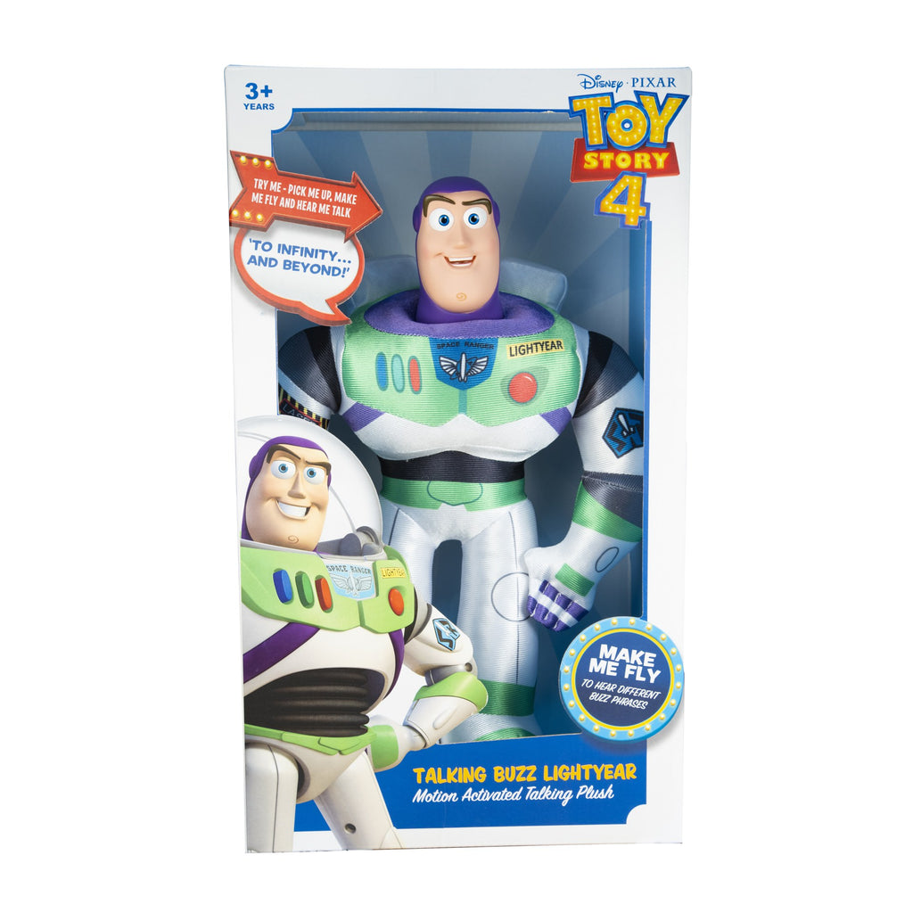 Disney Pixar Toy Story 4 - Buzz Lightyear 35cm Motion Activated Talking Plush