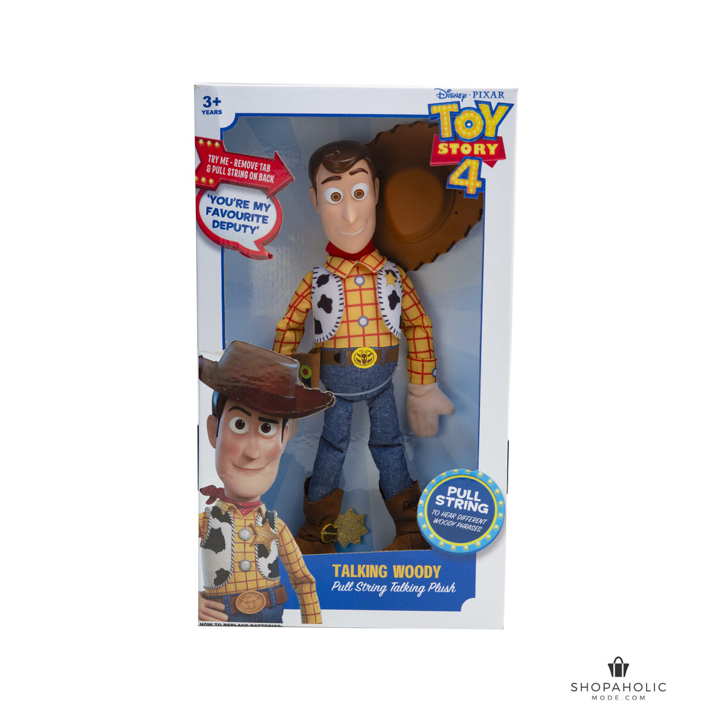 Disney Pixar Toy Story 4 Pull String Talking 40cm Plush Woody