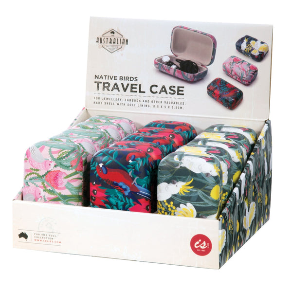 IS GIFT Australian Birds Travel Case - Perfect for Headphones, Jewellery
