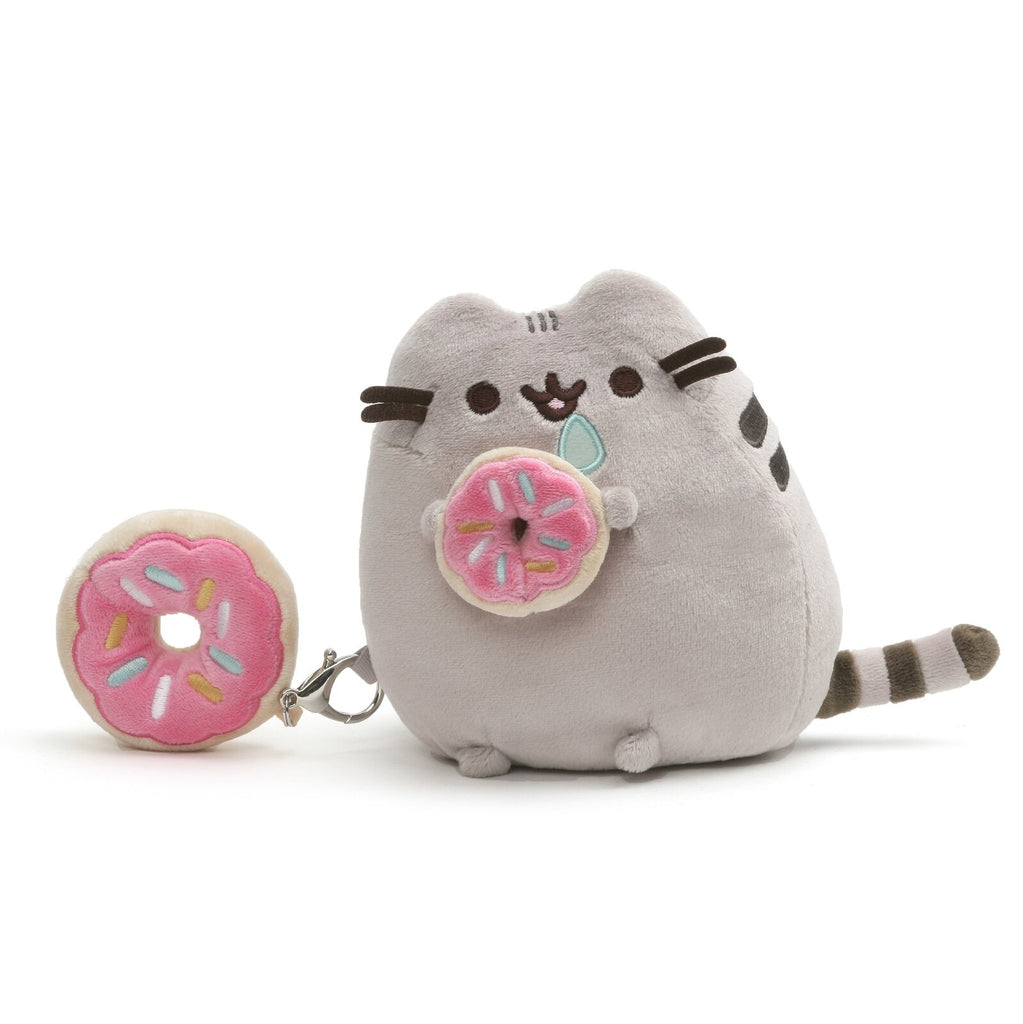 GUND Pusheen with Donut - 15cm Plush & Keyring Set