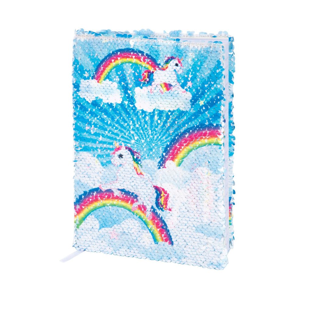 IS GIFT Transforming Sequin A5 Notebook Gorgeous Unicorn
