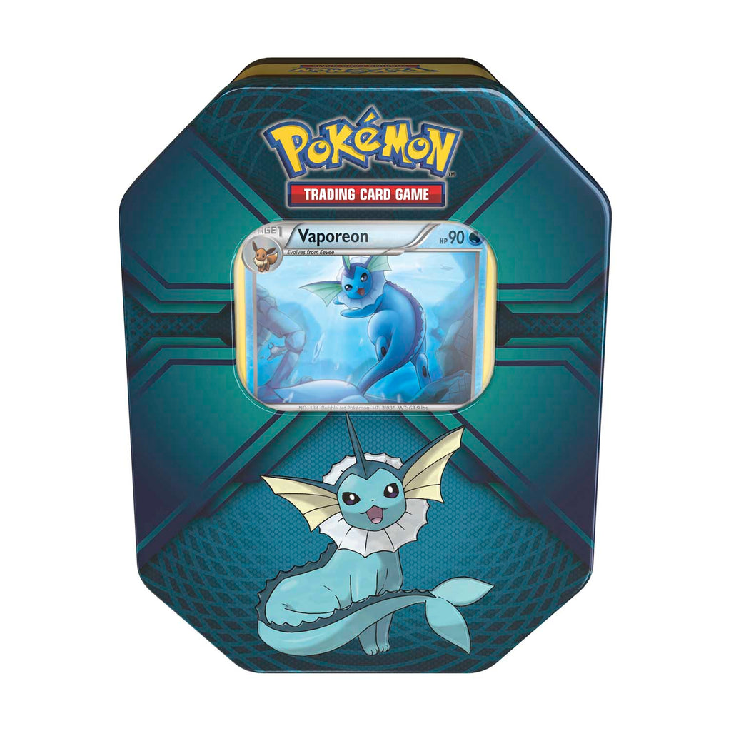 Pokemon TCG Triple Effect Tin with Vaporeon