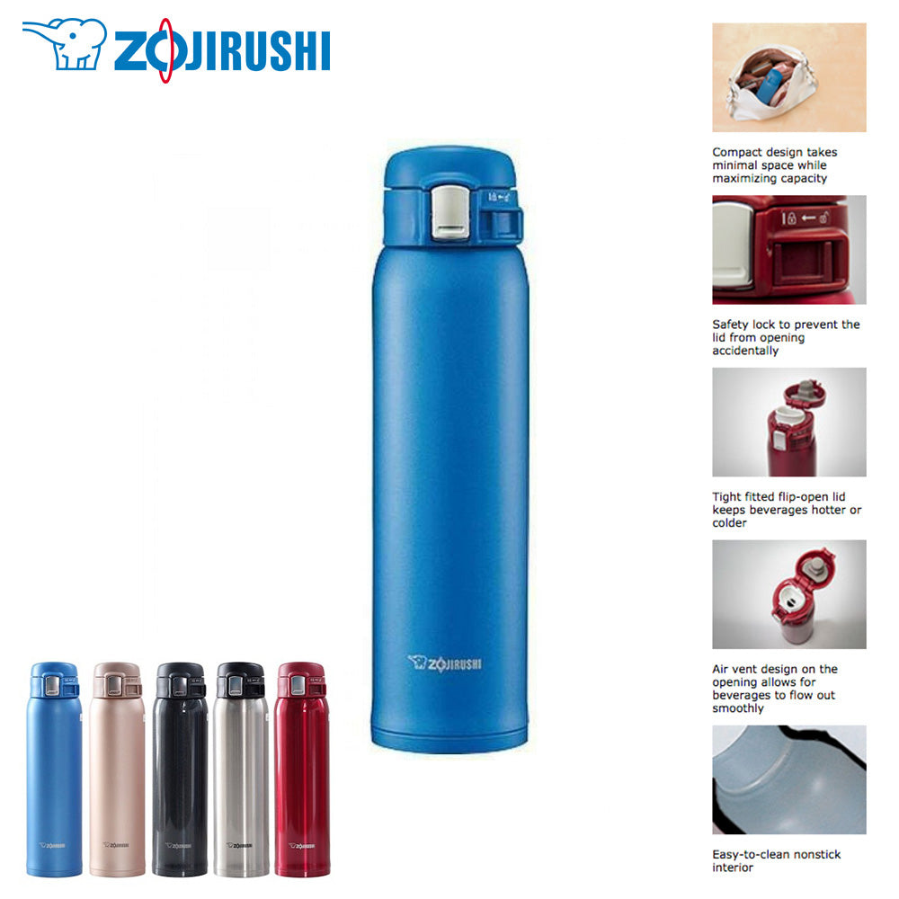 Zojirushi SM-SD60 Stainless Steel Vacuum Insulated Bottle 600mL 0.6L One Touch