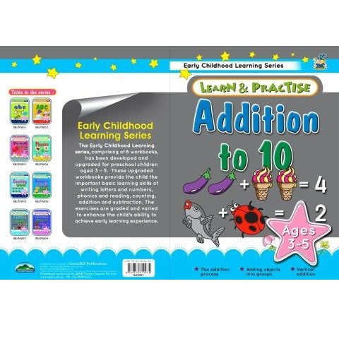 Addition to 10 Learn and Practice Childrens Activity Book