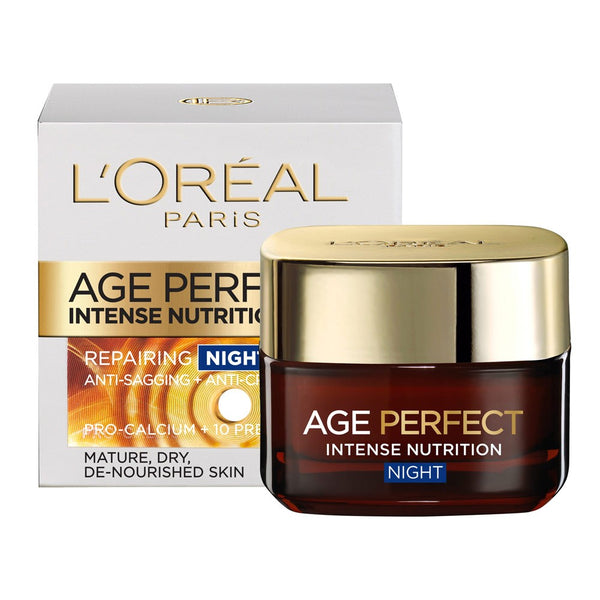 2 x L'Oreal Age Perfect Intense Nutrition Repairing Night Balm 50mL