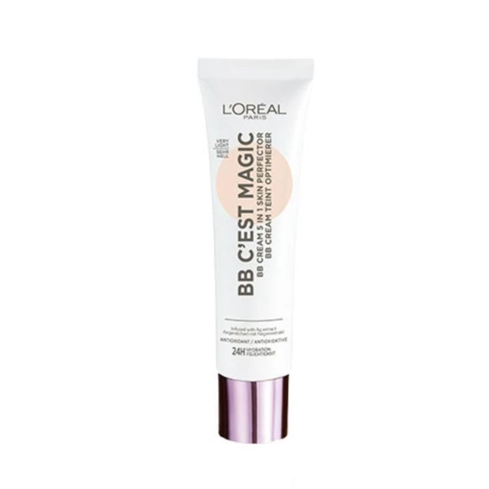 3 x L'Oreal C'est Magic BB Cream -5 in 1 Skin Perfector - 01 Very Light