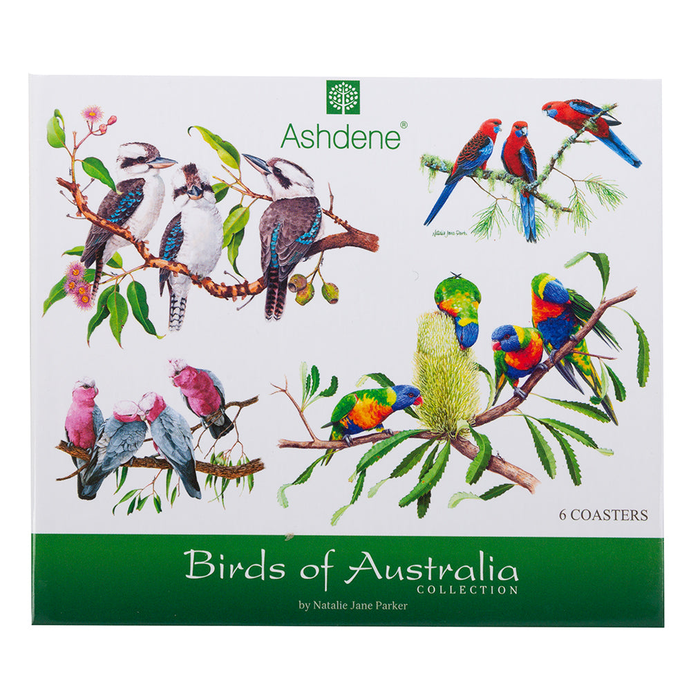 Ashdene Birds of Australia Coaster Set 6pc by Natalie Jane Parker