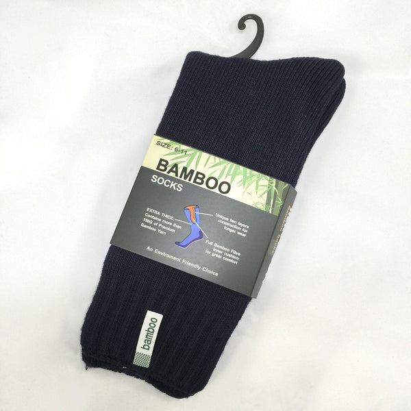 6 Pairs Men's Heavy Duty Thick Bamboo Work Socks