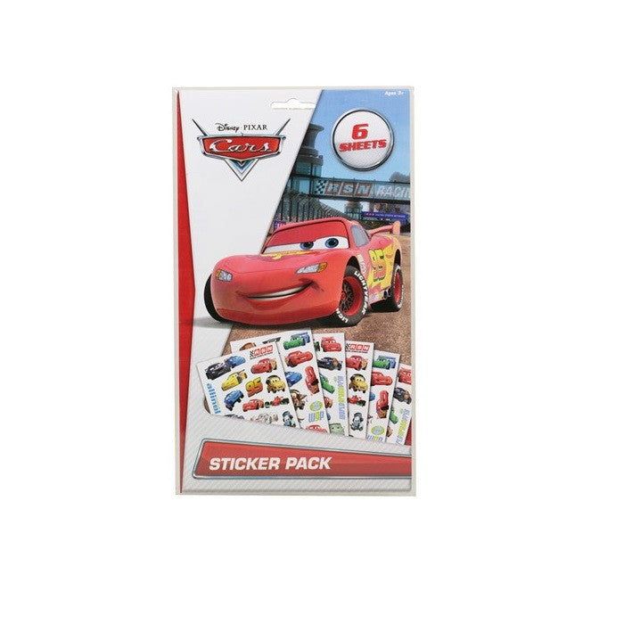 Licensed Disney Cars or Planes 6 Page Sticker Pack