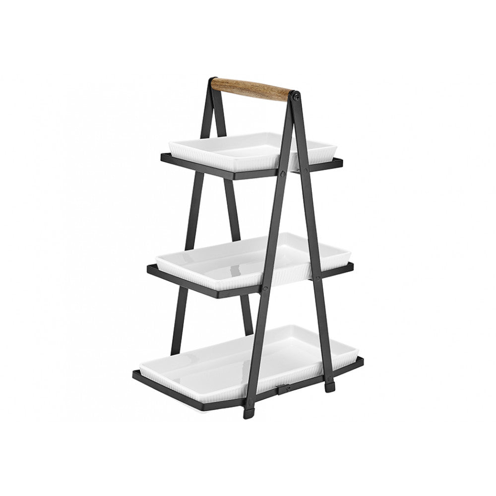 Ladelle Classica Serving Tower 3 Tier White Porcelain