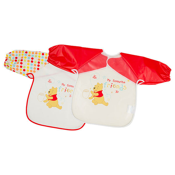 3 Packs of 2 Disney Winnie the Pooh Baby My Favourite Bear Coverall Bibs