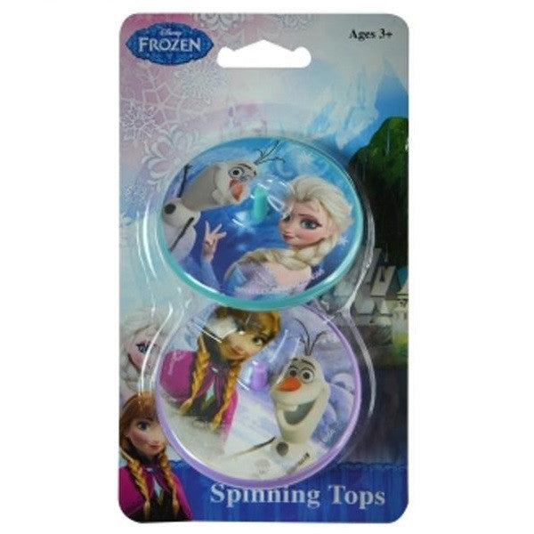 4 x Pack of 2 Licensed Disney Frozen Spinning Tops