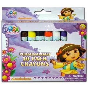 2 Packs of 10 Licensed Dora The Explorer Jumbo Crayons