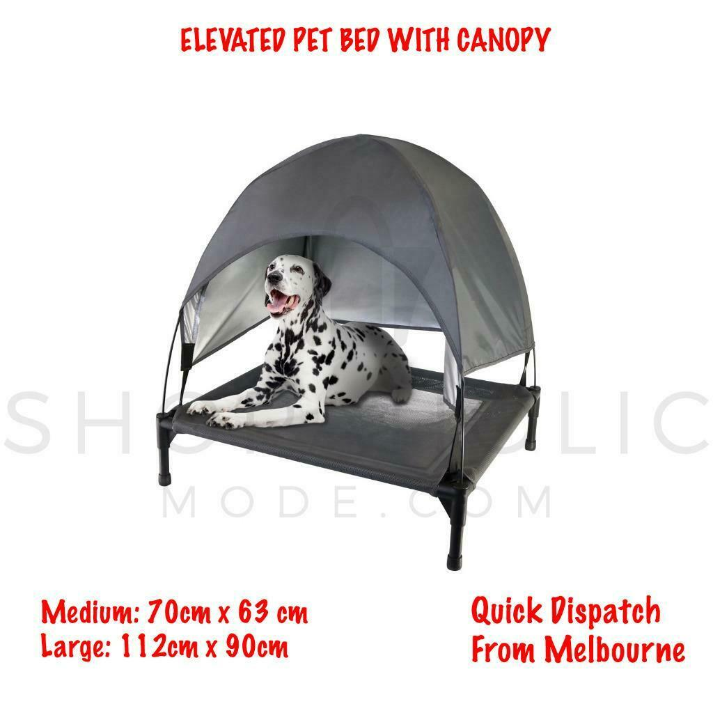 Elevated Pet Bed with Canopy